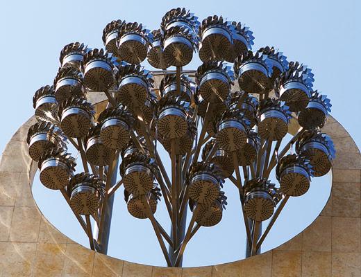 sciame di lucciole opera Angelo Muriotto artista